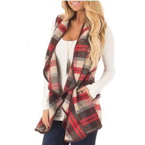 Peach Love Flannel Open Vest from Hautelook